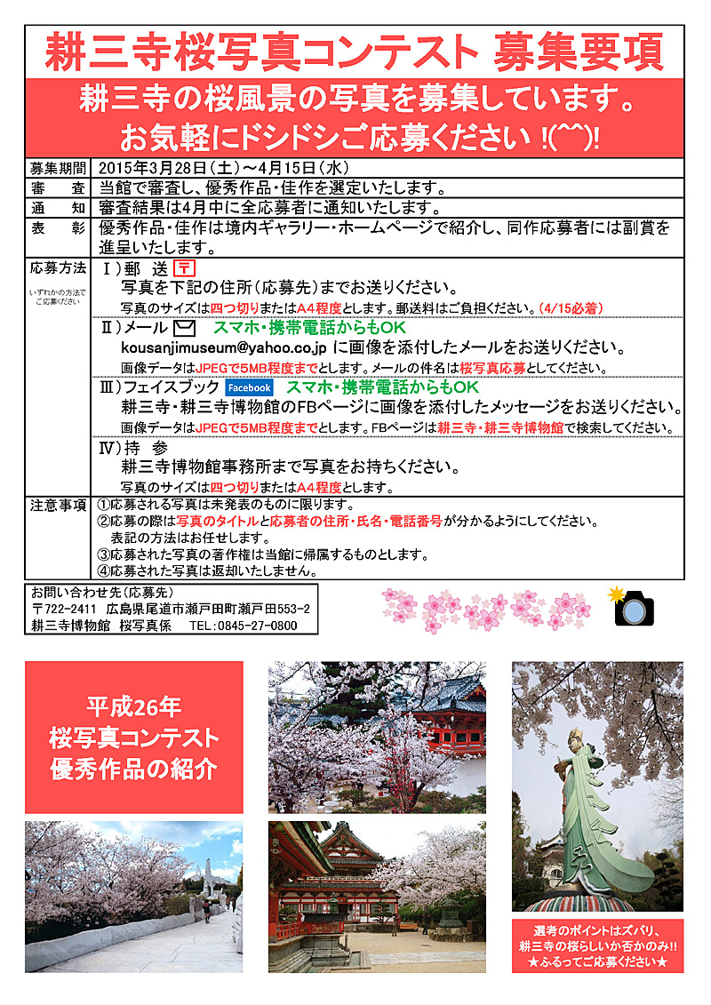 桜写真コンテスト募集要項
